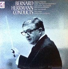 BERNARD HERRMANN CONDUCTS - LONDON LP - PHASE 4 STEREO - 1977 - U.K.