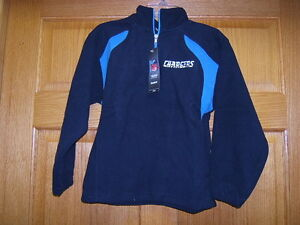NFL San Diego Chargers Fleece Sweatshirt Embr Childs L (7) Reebok New Ships Free