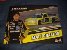 2011 MATT CRAFTON #88 IDEAL DOOR NASCAR POSTCARD