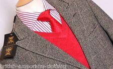 HOLLAND ESQUIRE mano personalizzati Fancy Herringbone Epsom Cappotto Giacca UK38 BNWT