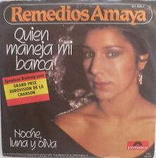 "7"" GRAND PRIX1983 ( SPAIN ) REMEDIOS AMAYA Quien Maneja Mi Barca"