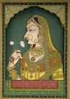 Miniature Portrait Of Maharani Padmavati Rajasthani Painting Finest Workmanship