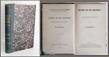 W. wilmanns-walther de l'oiseau saule. Germanistische histoire 1869-xz
