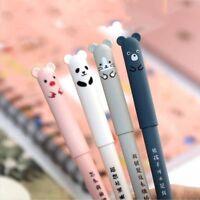 Cartoon Gel Ink Pen Erasable Animal Printed Ballpoint Stationery Writing Tool