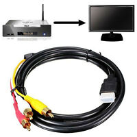 1.5M 5Ft For HDTV Video Audio HDMI To 3-RCA AV Component Adapter Converter Cable