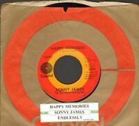 James, Sonny - Happy Memories/Endlessly Vinyl 45 rpm record Free Shipping