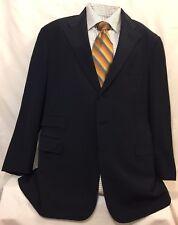 Men LAUREN RALPH PURPLE LABEL SUIT Wool 3 Button Blazer Size 44R Made In England