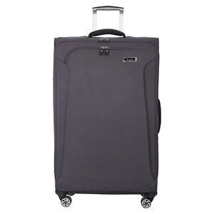 IT Luggage Tex - Lite 8 Wheel Spinner Medium Expander Suitcase 88L Grey 69cm New