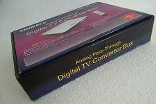 ZINWELL ZAT-950A Digital to Analog TV Converter Box w/Remote ATSC AC3 + Adapter