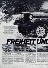 Prospekt Auto Becker Jeep 1978 Wagoneer Blazer Tundra 469 Fiat Scout 127 Range