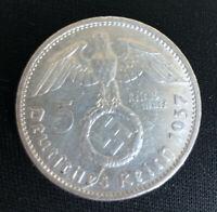 Rare Germany, Third Reich: 5 Reichsmark 1937 A