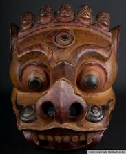 Tibet 19. JH. holzmaske-a tibetan rituel MAHAKALA wood mask-masque tibétain