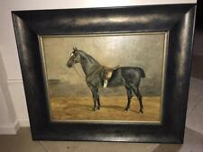 1914 English Oil painting Horse in Stall -  Signed & dated