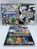 Pokemon Nintendo Strategy Guide Lot Pearl Diamond Black White Battle Revolution