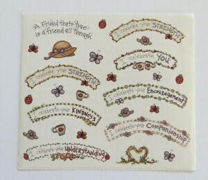 Joy Marie FRIENDSHIP - Sheet of Vintage Caption Stickers