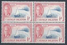 Cayman Islands 1950 Sc# 122 Boat Catboat George block 4 MNH