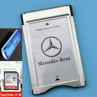 PCMCIA TO SD SDHC CARD Adapter for Mercedes-Benz+Sandisk 32G 80MBS Card +Reader