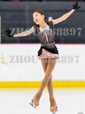 Ice Figure Skating Dress Gymnastics custome Dress Dance Competition black pink