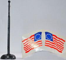 Timpo Original 1776 U.S. 13-Star Flag, Flagpole and Base - 3 pieces