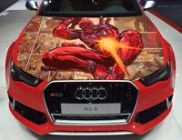 Vinyl Car Hood Wrap Full Color Graphics Decal Deadpool Comics Sticker
