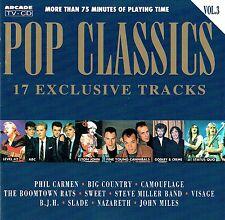 (CD) Pop Classics Vol. 3-Slade, mimetico, Visage, Nazareth, John Miles, tra l'altro