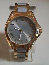 Women's Fashion Designer Gold/Gray Finish Boyfriend Dressy Wrist Watch