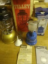 More details for vintage gold tilley storm light lamp x246b paraffin oil lamp & campinggaz lamp