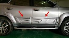 TOYOTA FORTUNER 2015-17 SIDE DOORS GUARD BODY CLADDING TRIMS BLACK OR BODY COLOR