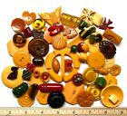 Vintage Buttons ~ Yummy Collection of Bakelite including Realistic & Shapes