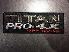 "Nissan Titan Pro 4X Off-Road Embroidered Patch 4x4 2.25"" X 6.5"""
