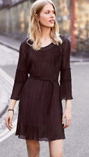 Next Berry Sleeve Detail Pleated Dress