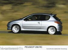 Peugeot 206 RC Werksfoto IAA 2003 13x17,8 cm Foto photo Auto PKWs Frankreich