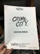 Taito CRIME CITY Arcade Video Game Manual - good used Copy