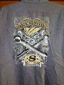 Mechanics Work~Shop Shirt Short Sleeve Size: 4XL Used/recycled  Hotrod Ratrod