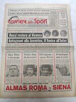 CORRIERE DELLO SPORT 7-2-1979 ANTOGNONI JUVENTUS PAOLO ROSSI VICENZA VIRDIS