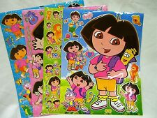 Dora The Explorer 4 x A4 Sheets of Shiny Foil Stickers (421) Party Bags Stocking