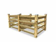 ECO Doppel-Komposter Brettkomposter aus Holz mit 6 Kappen - ca. 1300 L