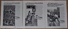 1973 COLGATE Toothpaste ads x3, Jessie Owens, Billie Jean King, Walt Frazier