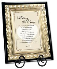 Love Poetry Plaque Romantic Birthday Gift Anniversary Husband Wife Boyfriend