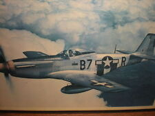 North American P-51 Mustang Fighter Plane Military Photograph Decoupage Plaque