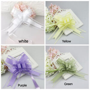 Giant Large Instant Easy Pull Bow Ribbon Birthday Wedding Party Decoration Lace