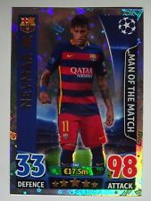 Carte Match Attax Saison 2015/16 1 Carte Neymar FC Barcelone Man of the Match