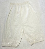 Denisson's Bloomers Girls White Slip Embroidered Lace Ruffle Vintage