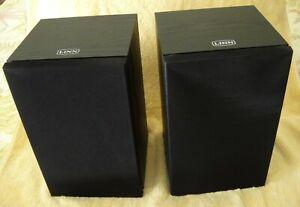 Linn KAN V, Black; Bookshelf Loudspeakers; S/N 1701/1702; in excellent condition