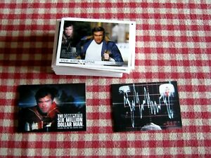 THE COMPLETE SIX MILLION DOLLAR MAN-COMPLETE BASE SET OF 72 CARDS