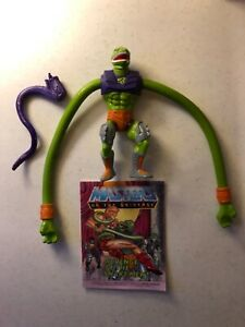 HE MAN Vintage Action Figure SQUEEZE Masters of the Universe MOTU COMPLETE 1986