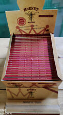 1 BOX 50 Packs Hornet KS Organic HEMP Tobacco Rolling Papers 32 Leaves Per.Pack