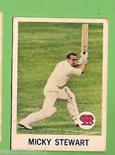 #D260.  1965 SCANLENS CRICKET CARD #19  MICKEY  STEWART