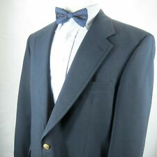 Brooks Brothers 1818 Blazer Brass Buttons 100% Wool 42 L Navy 1-Button