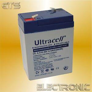 ULTRACELL BLEIAKKU 6V 4.5AH BLEI-AKKU 6VOLT 4.5A USV 4AH 4A 4.2AH 4.2A SOLAR